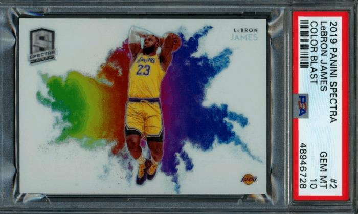 2019 LeBron James Panini Spectra Color Blast