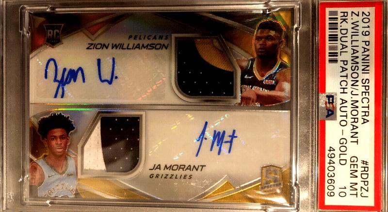 Zion Williamson Autograph Basketball Cards