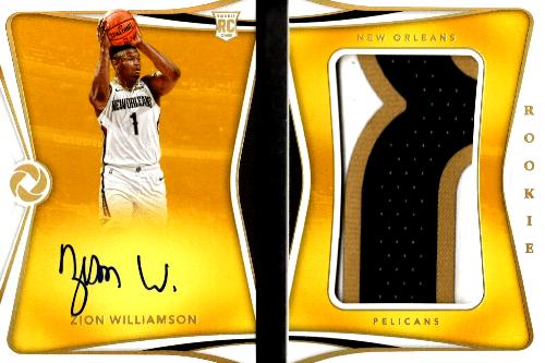zion autograph basketball cards