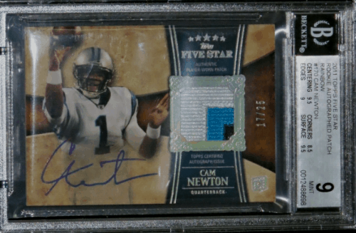 2011 Cam Newton Topps Fiver Star RPA
