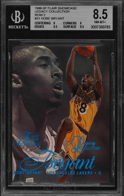 1996 Kobe Bryant Rookie Flair Showcase Legacy Collection
