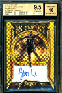 best zion williamson autograph card Select In-Flight
