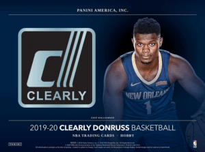 2020 Clearly Donruss Basketball Cards