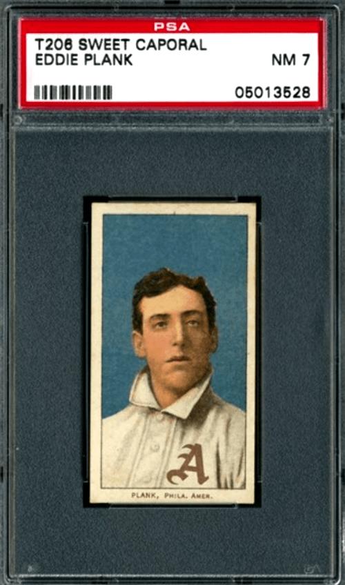 1909-11 Eddie Plank T206 White Border