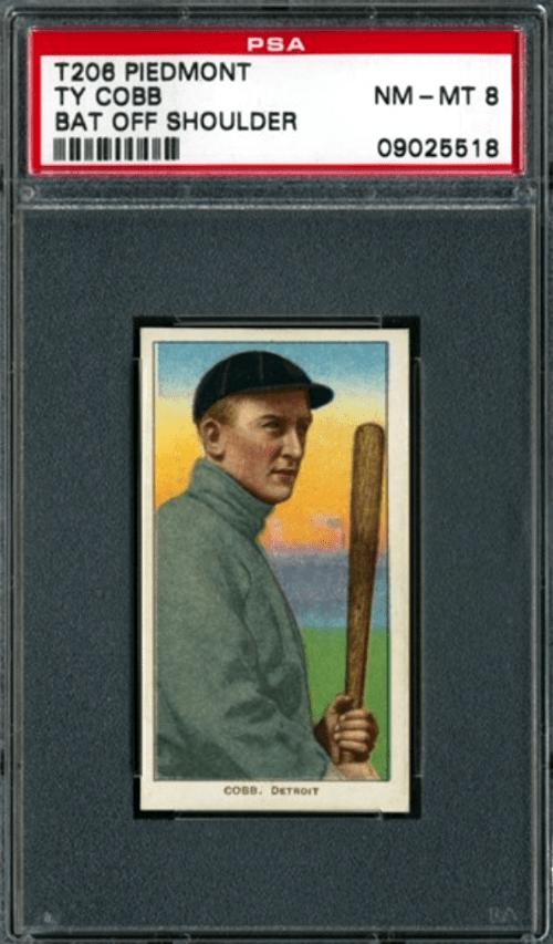 1909-11 Ty Cobb Bat Off Shoulder T206 White Border