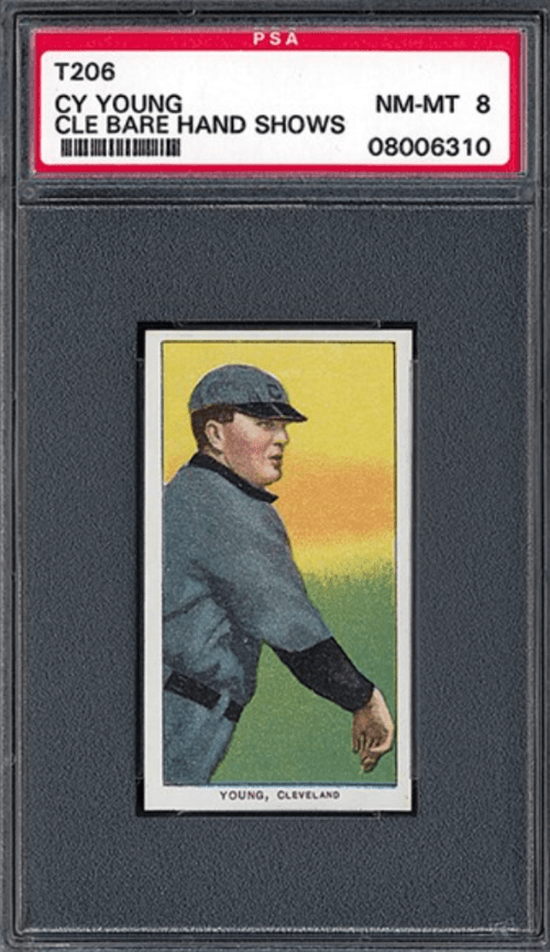 1909-11 Cy Young Bare Hand T206 White Border