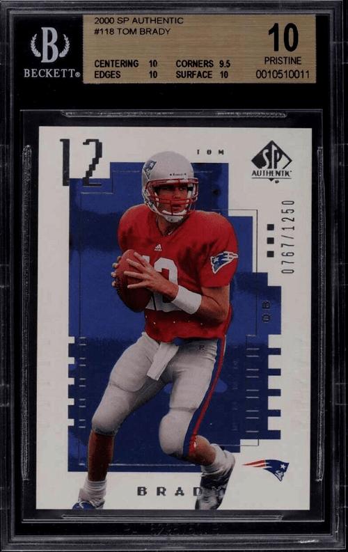 2000 Tom Brady SP Authentic