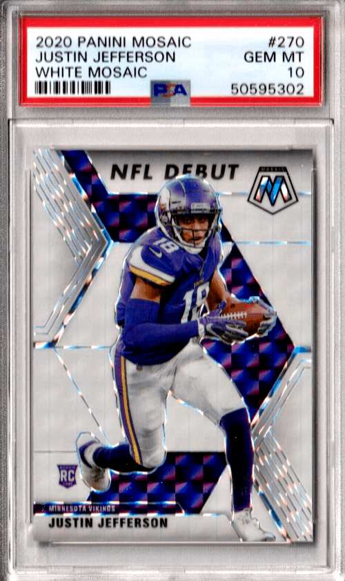 top-rated Justin Jefferson rookie card