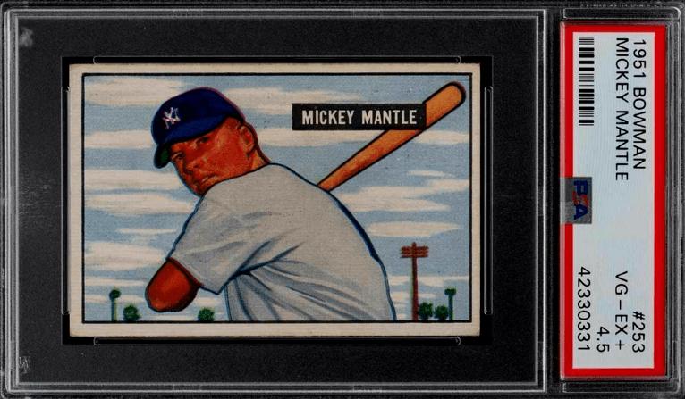 1951 Mickey Mantle Bowman RC #253