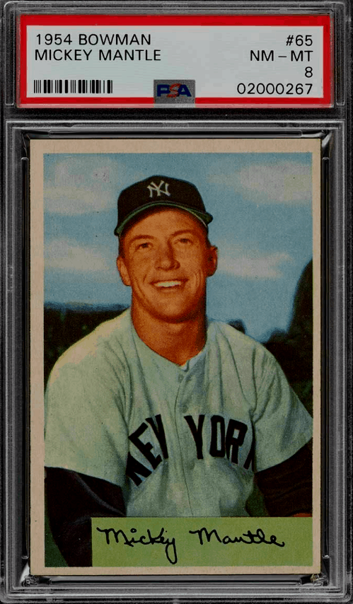 1954 Mickey Mantle Bowman Baseball Card