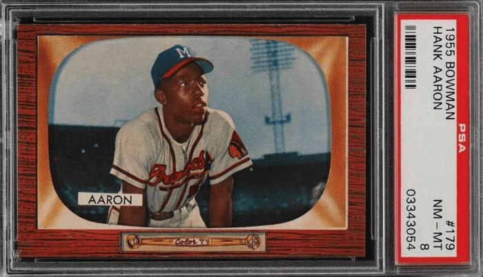 1955 Hank Aaron Bowman card
