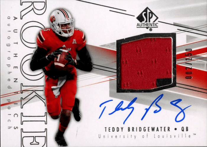 2014 Terry Bridgewater SP Authentic rookie card