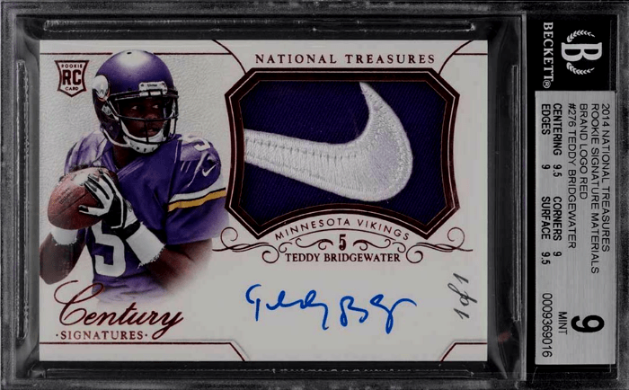 2014 Terry Bridgewater National Treasures Rookie card