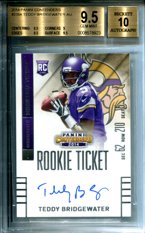 Teddy Bridgewater Rookie Card Checklist