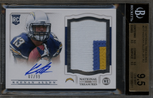 2013 Keenan Allen National Treasures rookie card