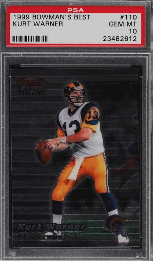 1999 Kurt Warner Bowman's Best rookie card