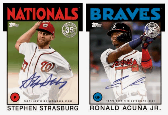 2021 Topps Series 1 Baseball Autographs 1986
