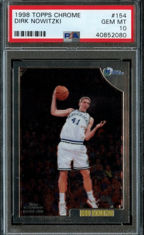 1998 Dirk Nowitzki Topps Chrome rookie card