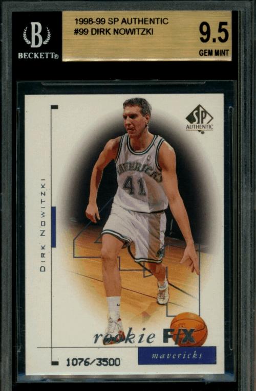 1998 Dirk Nowitzki SP Authentic rookie card
