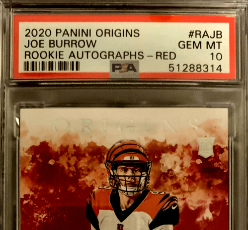 Joe Burrow Autograph Football Cards