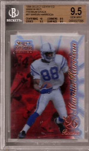 most expensive marvin harrison rookie card