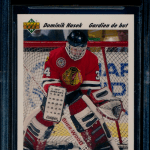 Dominik Hasek French Upper Deck Rookie Card