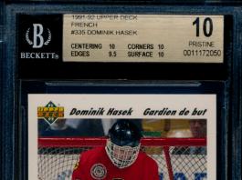 Dominik Hasek French Upper Deck Rookie Card