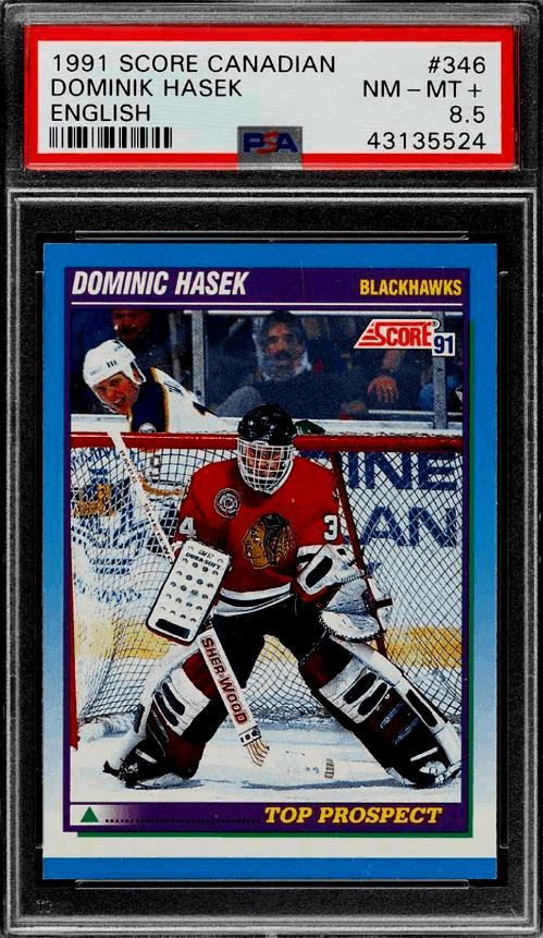 1991 Dominik Hasek Score rookie card
