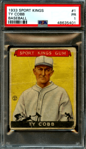 1933 Goudey Baseball Card Checklist