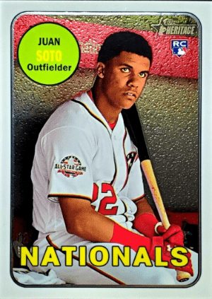 Juan Soto 2018 Topps Heritage High Number Cards