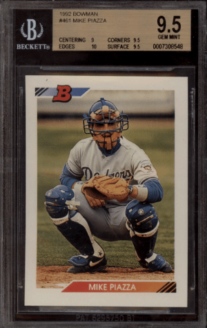 1992 Mike Piazza Bowman rookie card
