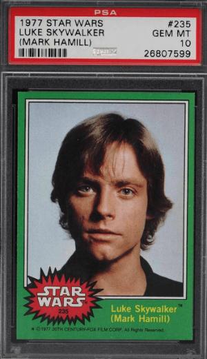 1977 Topps Star Wars Luke Skywalker