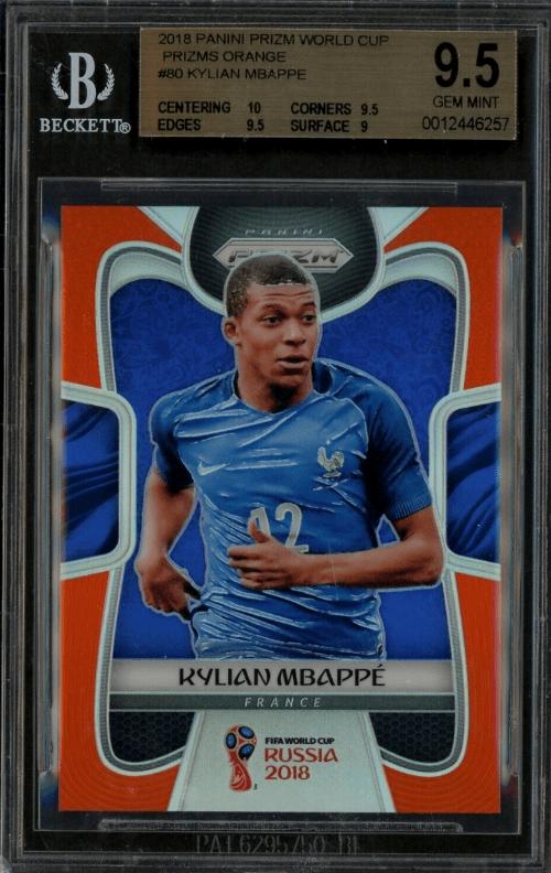 Kylian Mbappe Panini Prizm World Cup Rookie Card