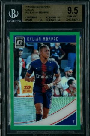 2018 Kylian Mbappe Donruss Optic Prizm rookie card