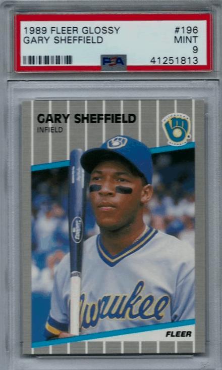 1989 Gary Sheffield Fleer Glossy rookie card