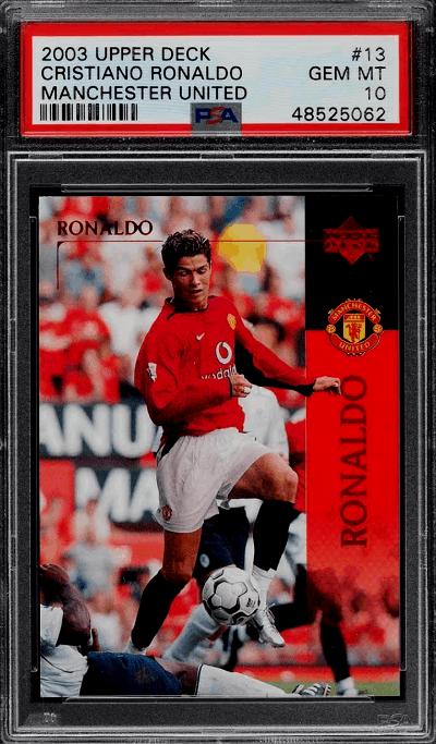 2003 Cristinao Ronaldo Upper Deck Manchester United RC