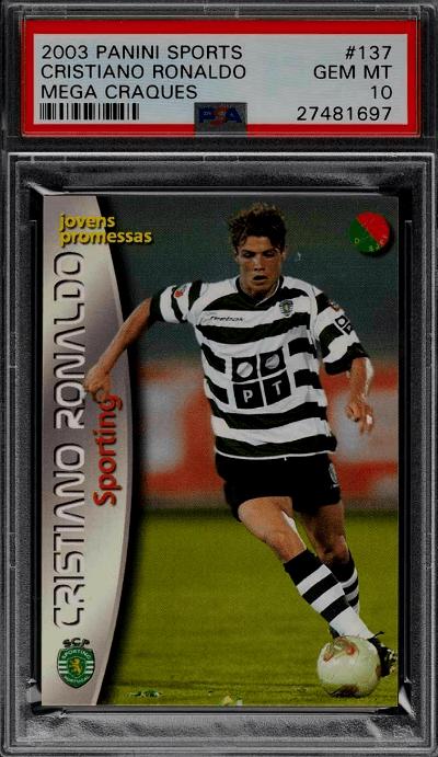 2003 Cristiano Ronaldo Panini Sports Mega Craques RC