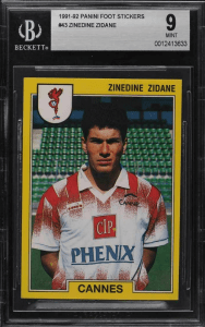 Zinedine Zidane Rookie Card Value