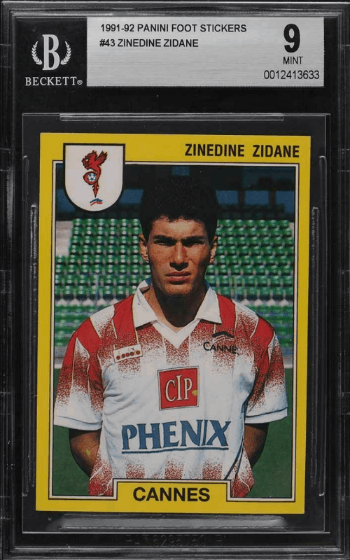 Best Zinedine Zidane Rookie Cards