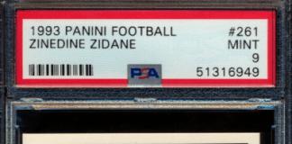 Zinedine Zidane rookie cards
