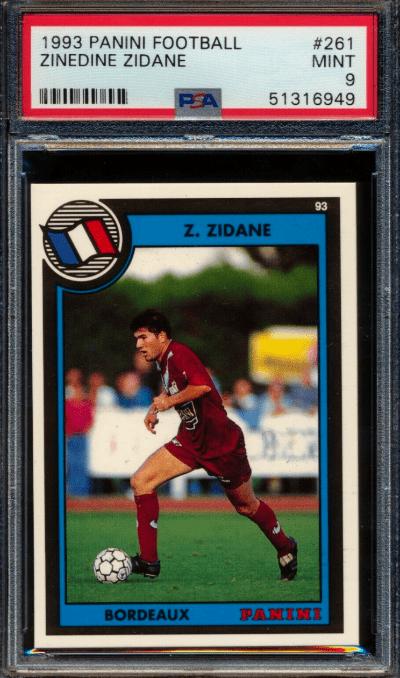 1992 Zinedine Zidane Panini France RC