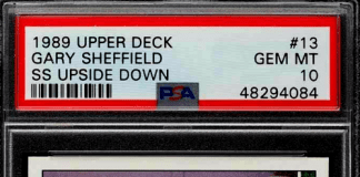 Gary Sheffield Upper Deck Rookie Card