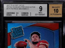 gold card auctions football cards