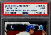 Gavin Lux Bowman Rookie Card
