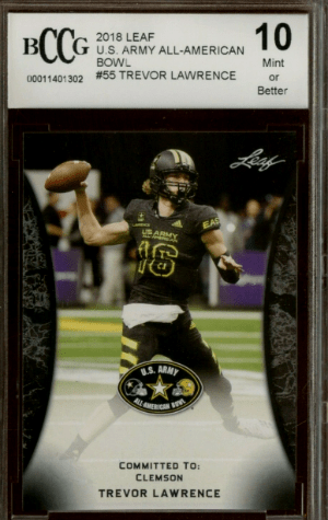 2018 Trevor Lawrence Leaf Metal All-American Bowl RC