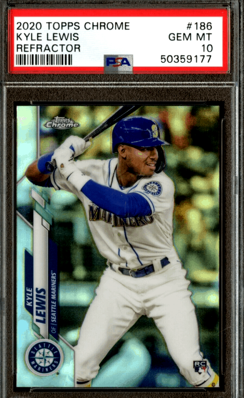 2020 Kyle Lewis Topps Chrome rookie card