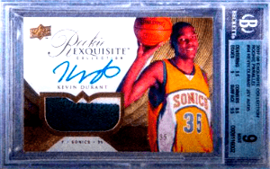 most expensive Kevin Durant rookie card