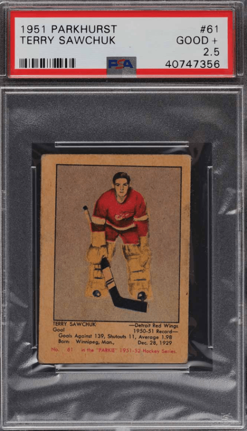 50s most valuable hockey cards Terry Sawchuk