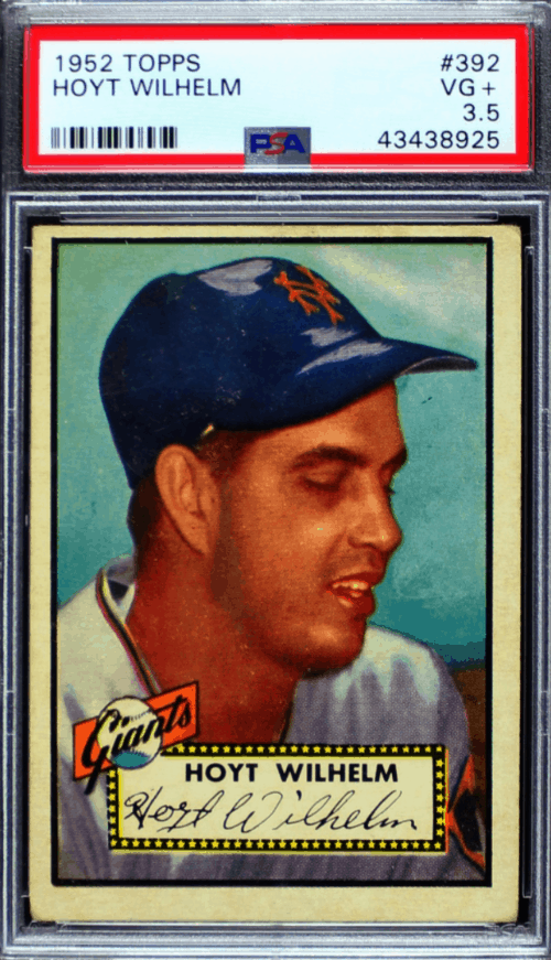 1952 Hoyt Wilhelm Topps Best Relieft Pitcher RC