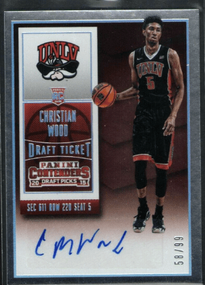 Christian Wood Panini Contenders Draft Pick rookie card
